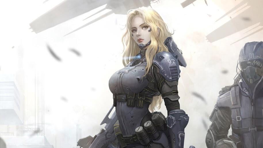 Sci-Fi, Girl, Soldier, 4K, #4.3104