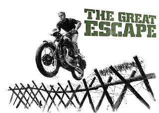 La gran evasión, el rodaje de la escena de Steve McQueen escapando con su moto