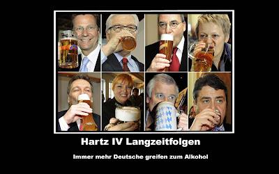 Politiker trinken Bier witzige Bilder Hartz 4