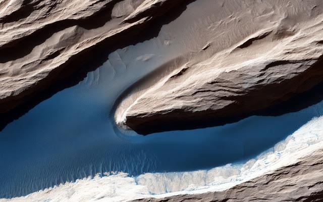 التعرية الريحية هي القوة الرئيسية التي تشكل المناظر الطبيعية على مريخ اليوم