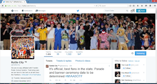 screen grab of Rattle City Twitter profile page