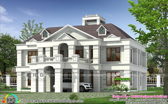 Colonial home plan by Arcon Designers & Builders