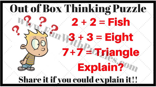Out of box thinking puzzle