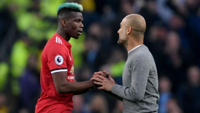 Guardiola menghampiri Pogba usai laga, apa isi ucapannya?