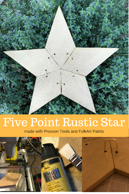 Finished Five Pointed Patchwork Star