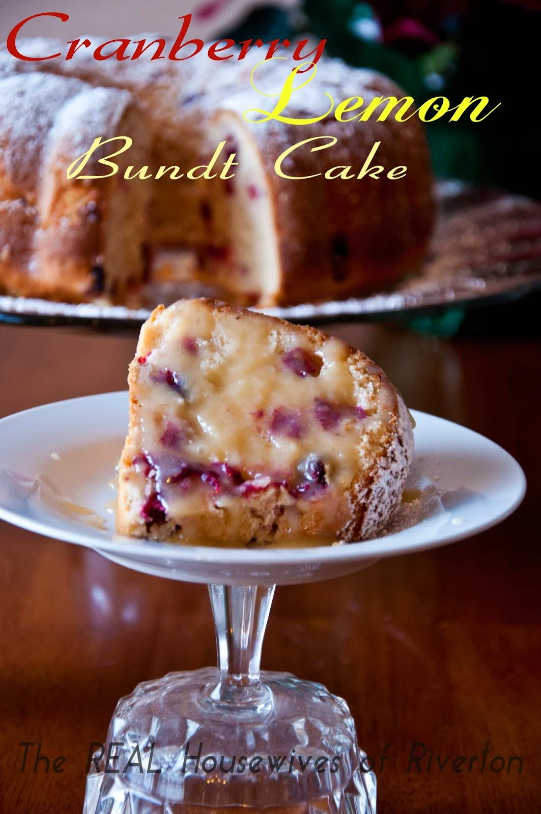 Cranberry Lemon Bundt Cake With Browned Butter Lemon Cream