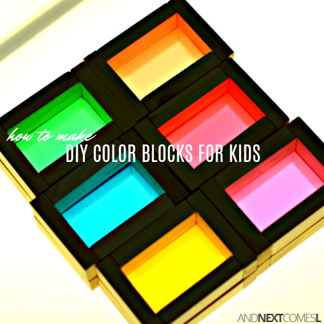 Tutorial for making DIY homemade color blocks for light play