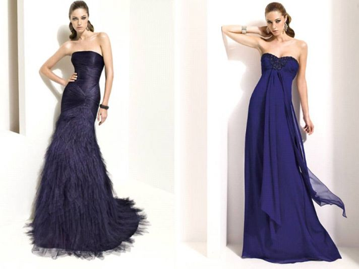 Blue Wedding Gowns: Royal Wedding Accessories: Blue Bridesmaid Dresses For