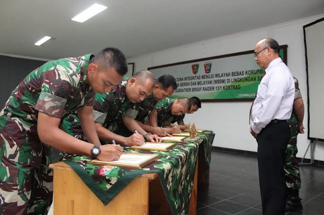 Ini di Tasikmalaya, Komandan Brigif Raider 13 Kostrad Canangkan Wilayah Bebas Korupsi