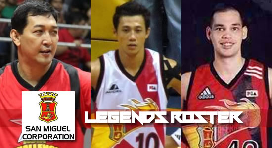 ROSTER LIST: San Miguel official Legends Lineup vs Alaska