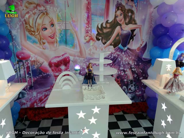 Decoração de aniversário infantil tema Barbie Pop Star