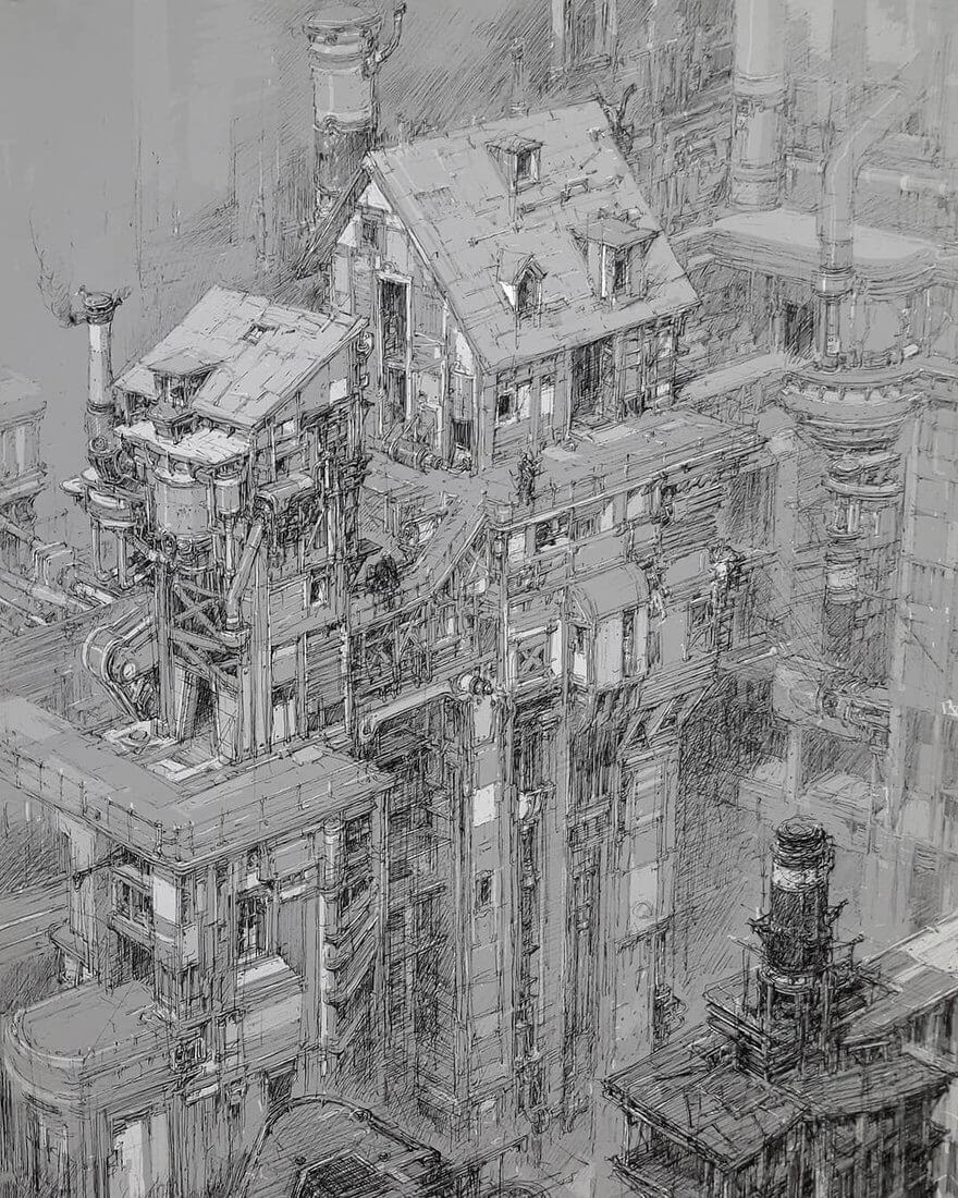 02-PaperBlue-Large-Ghostly-Detailed-Fantasy-City-Expanse-www-designstack-co