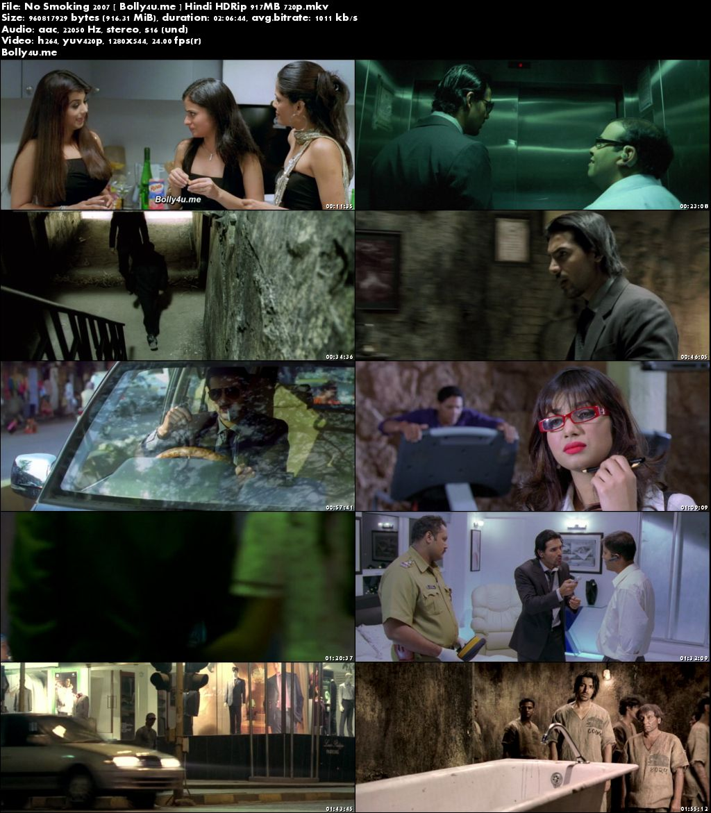 No Smoking 2007 HDRip 350MB Hindi Movie 480p Download