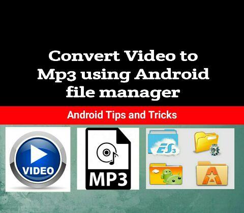 Convert video to mp3 tricks