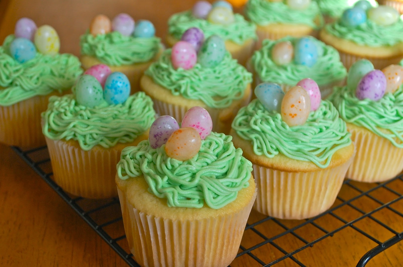 Chef Mommy Jelly Bean Easter Egg Cupcakes
