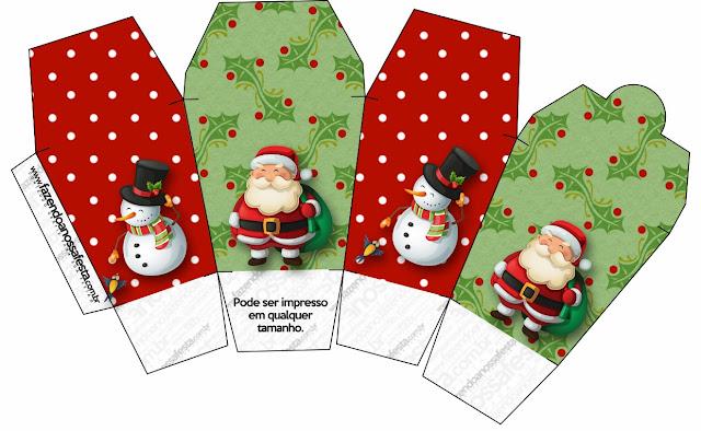 Navidad: Cajas con Santa para Imprimir Gratis. | Ideas y material ...