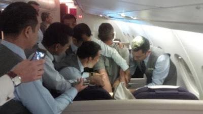 Passageiro bêbado