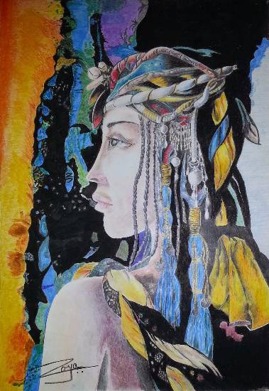 Queen Cleopatra, painting by Dr. Shahar Bano Khan (www.indiaart.com)