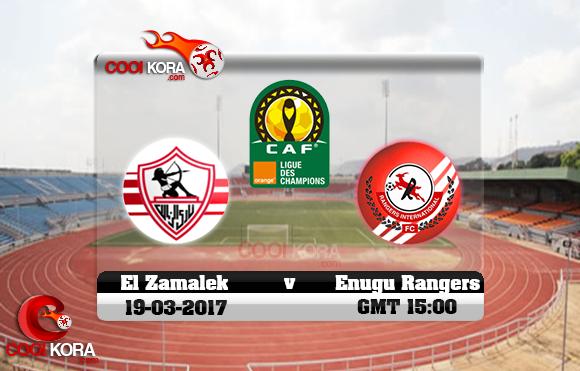 مشاهدة مباراة إينوجو رينجرز والزمالك اليوم 19-3-2017 دوري أبطال أفريقيا