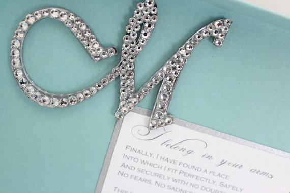 Tiffany Blue Wedding Invitations Kits: Unxia: Wedding Invitations Tiffany Blue Bling Silver And White
