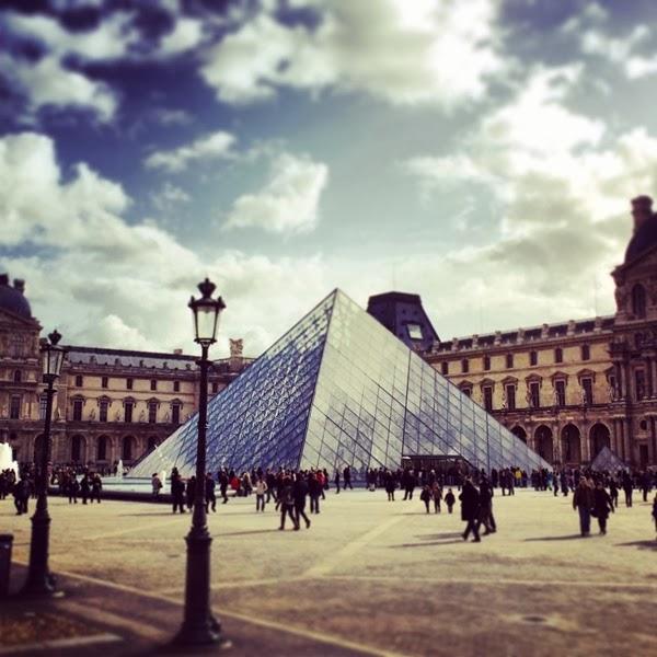 IM Pei Pyramid at the Louvre in Paris