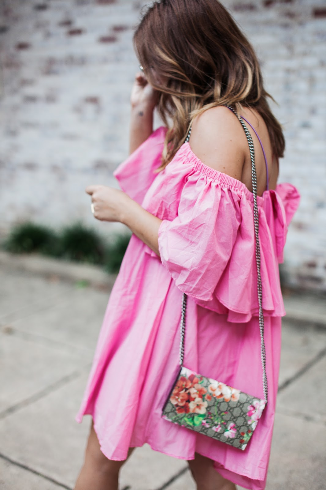pink dress, storets, ruffle dress, outfit, style, blog, blogger, summer trends, outfit inspo