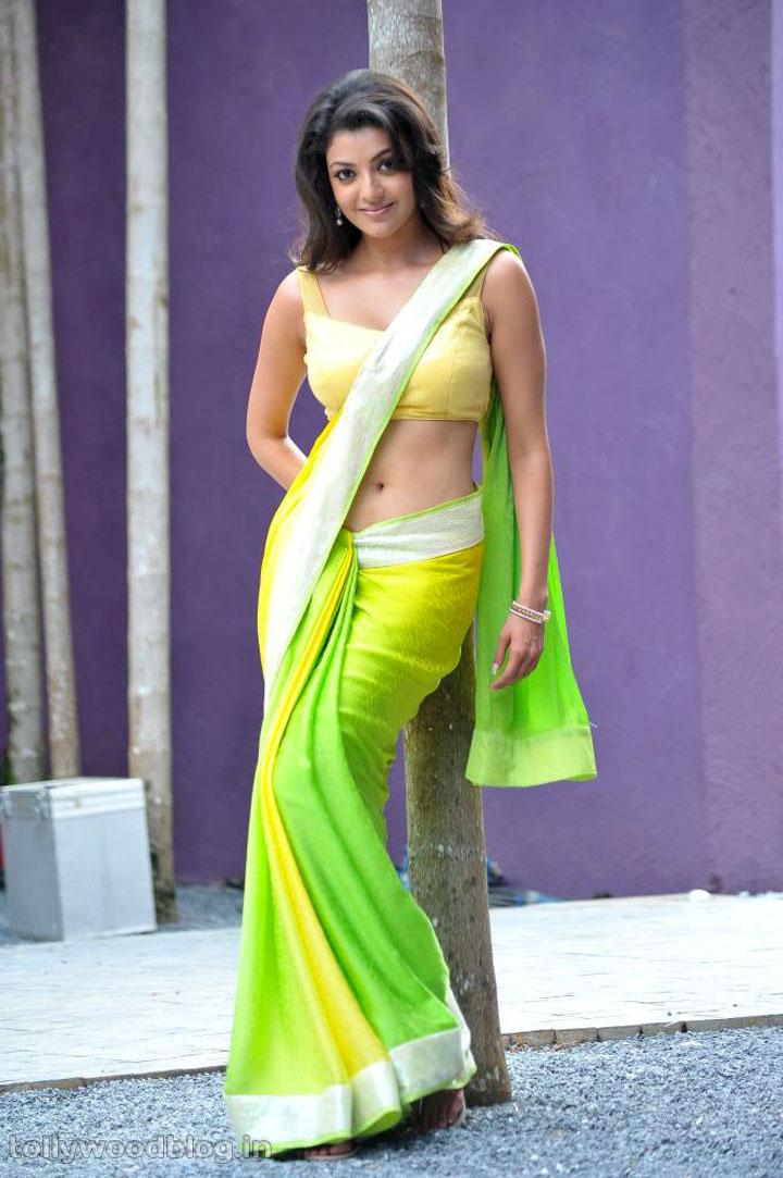 Kajal Agarwal In Hot Saree Pics South Indian Actress