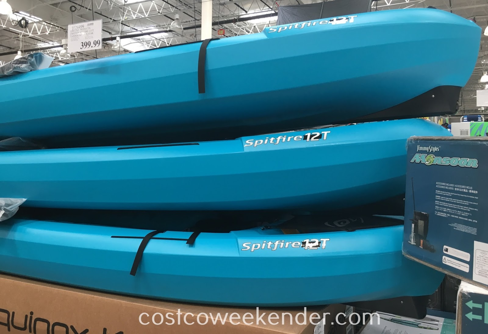 Enjoy paddling in the open water with the Lifetime Products Emotion Spitfire 12T Tandem Kayak