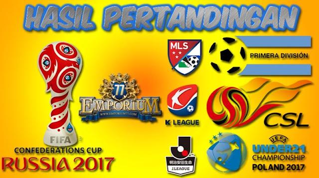 Hasil Pertandingan Bola, Senin 20 - 21 November 2017