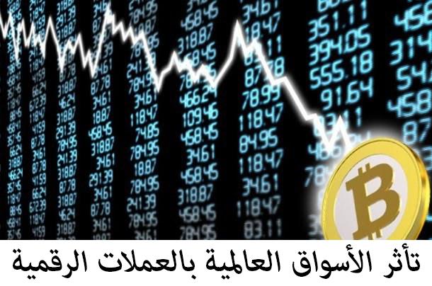 تأثر الأسواق العالمية بالعملات الرقمية