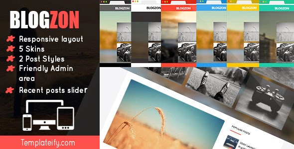 blogzon Responsive and Multipurpose Template 2014 for blogger