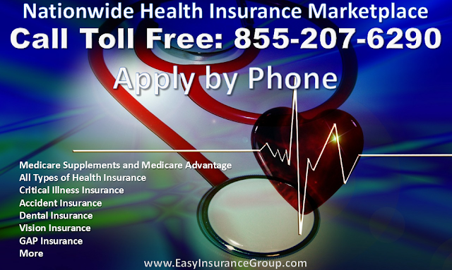 EasyInsuranceGroup.com Nationwide Health Insurance Helpline - Apply By Phone - Toll Free 855-207-6290 - Fast & Easy