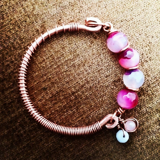 Copper Bracelets/Kada, Wire Wrapped Jewellery, Copper Jewelry India
