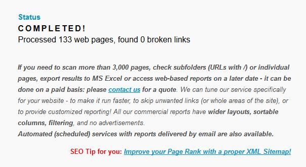 Cek link error