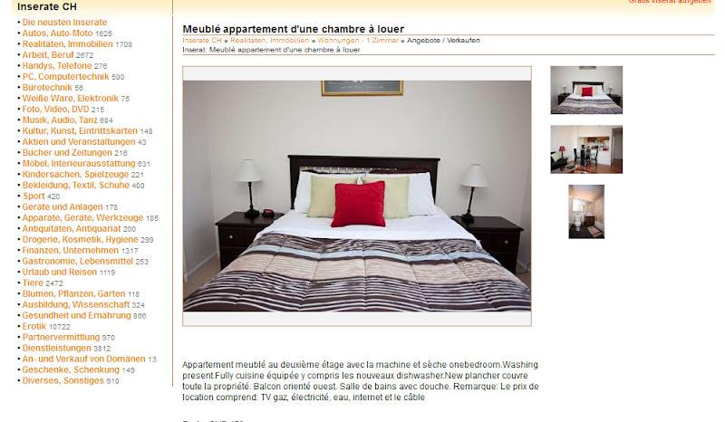 Meubl appartement d 39 une - Location appartement meuble lyon 3 ...