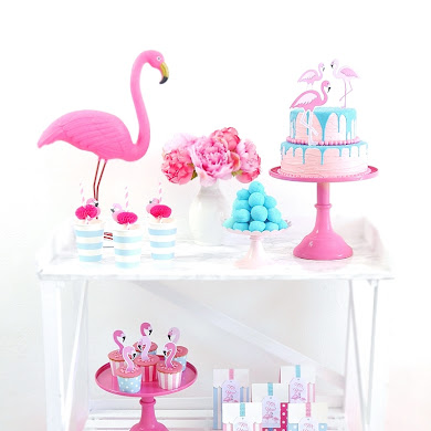 Flamingo Pool Party Ideas & Printables