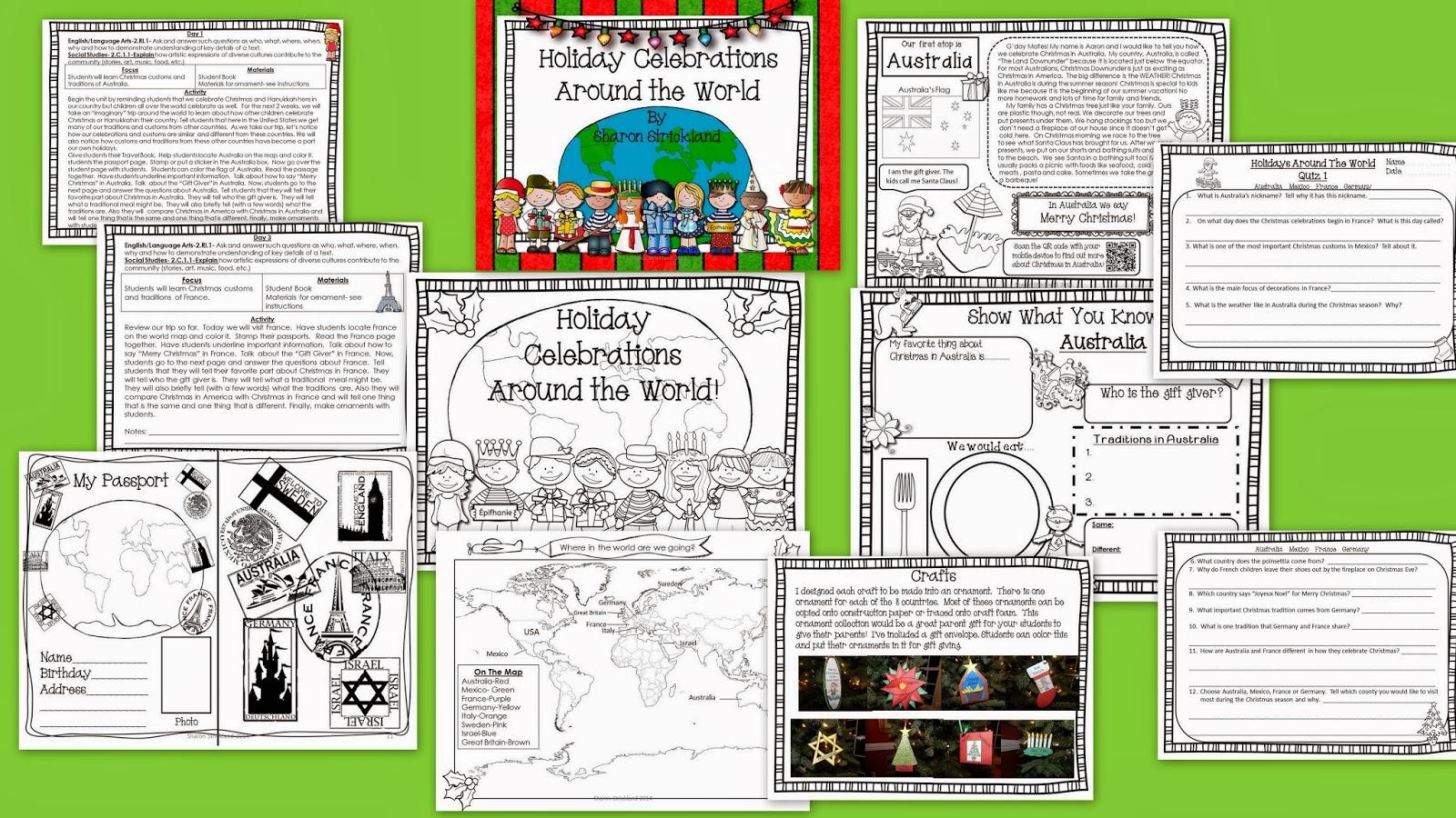 Super Second Grade Smarties Celebrating Holidays Around
