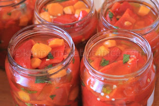 Мариновани червени чушки - рецепта