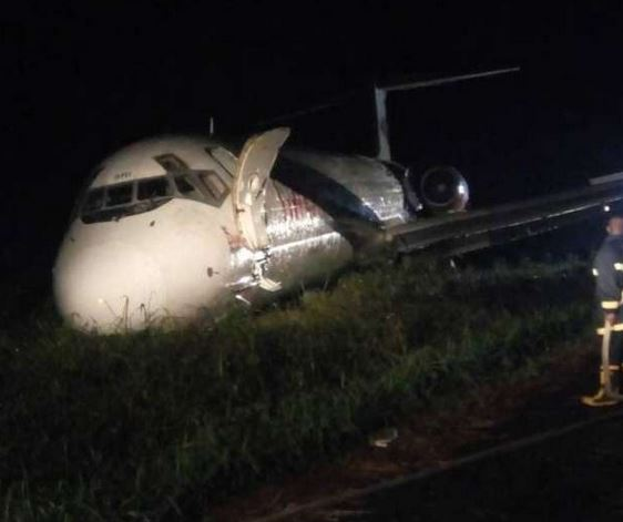 HAPPENING NOW: Dana aircraft crash lands in Port Harcourt airport (PHOTOS)