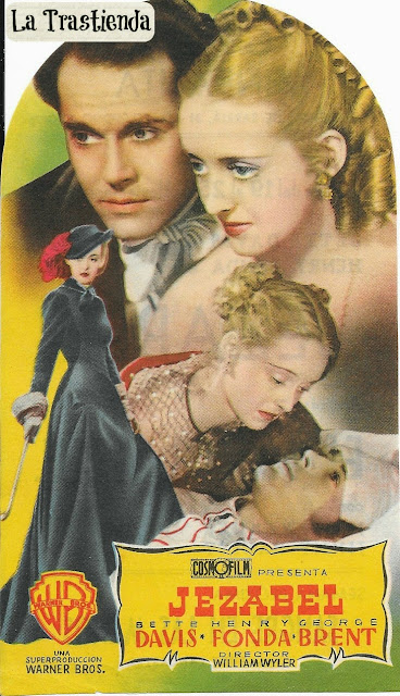 Jezabel - Programa de cine - Bette Davis - Henry Fonda