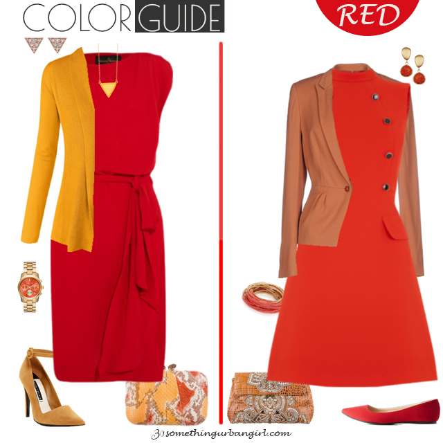 Pretty red dresses for Warm Autumn seasonal color women by 30somethingurbangirl.com