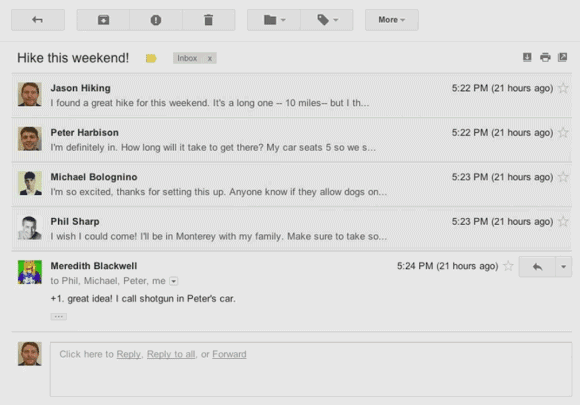 New Gmail Conversation