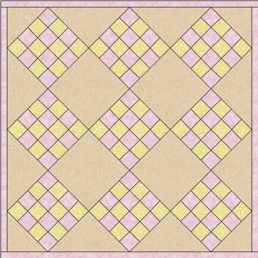gebrek aan contrast in quilt