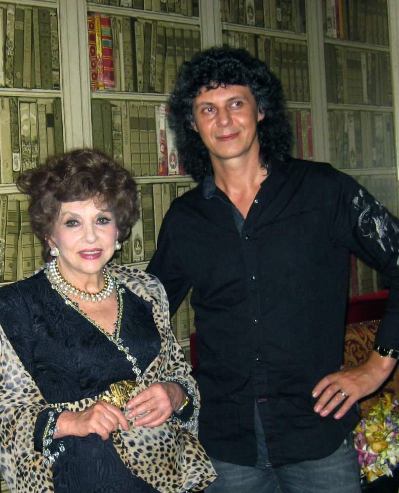 Michael Cheval and Gina Lollobrigida
