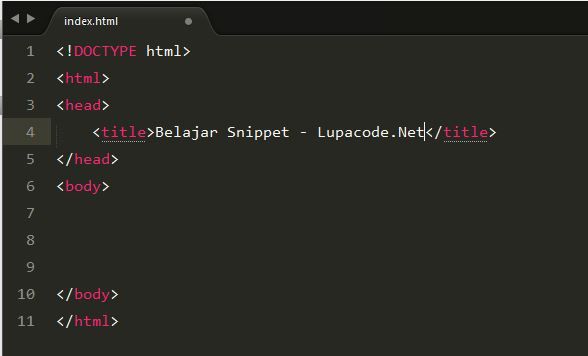 Lupacode - Tutorial Sublime text Snippet 1