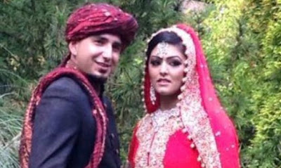 Samia Shahid with her second husband Mukhtar Syed Kazam