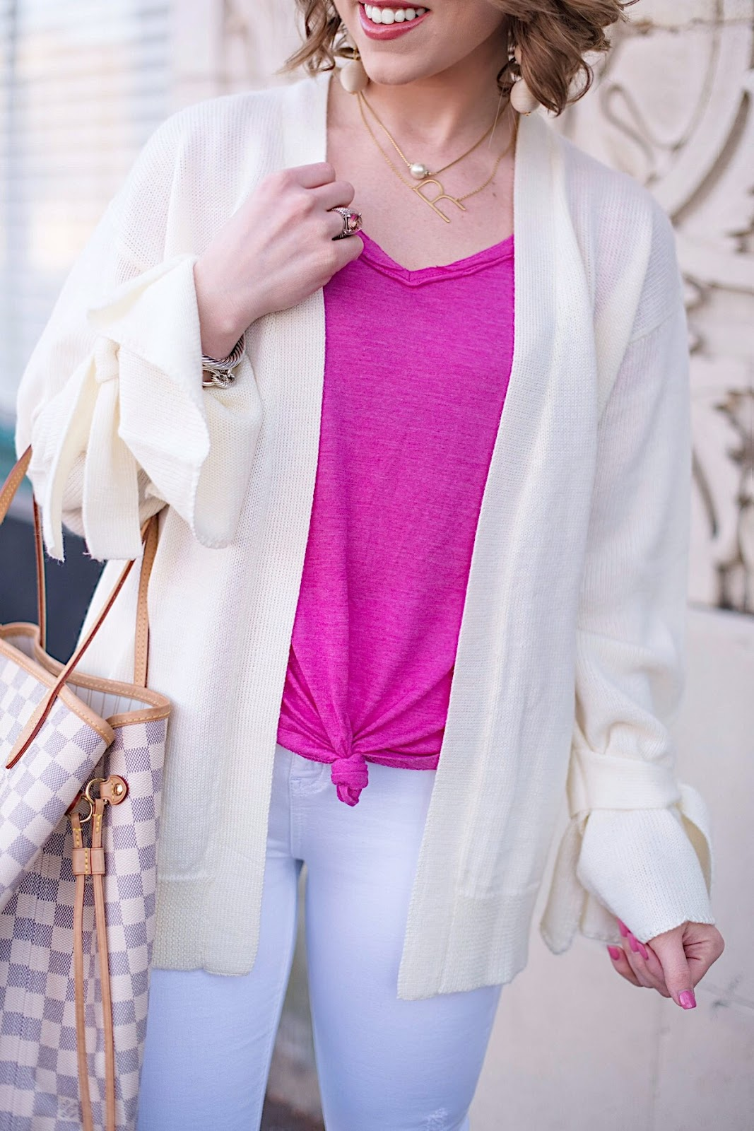 Monochromatic Look For Transitioning to Spring  - See more on Something Delightful Blog