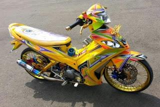 Top Modifikasi Yamaha Jupiter MX Airbrush 2014