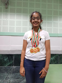 Hat Trick by Ridhima Khindria with 3 Golds