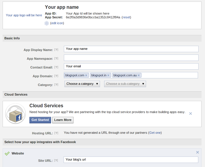 How to add Facebook log in button to blogger blog - Subin's Blog